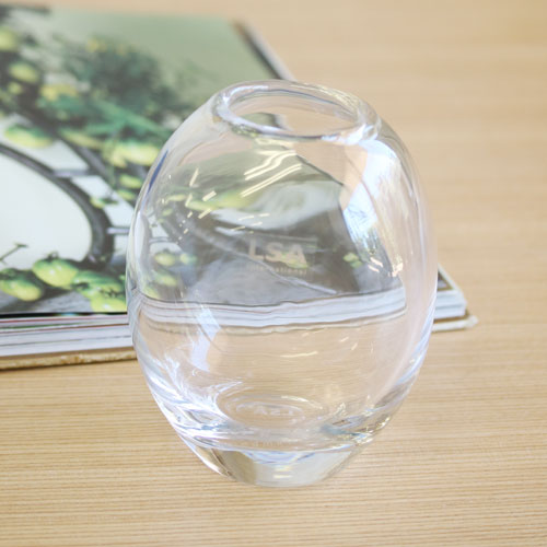 【LSA】MOLTEN VASE OVAL CLEAR S